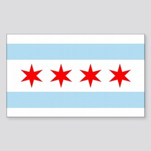 Chicago City Flag Rectangle Sticker